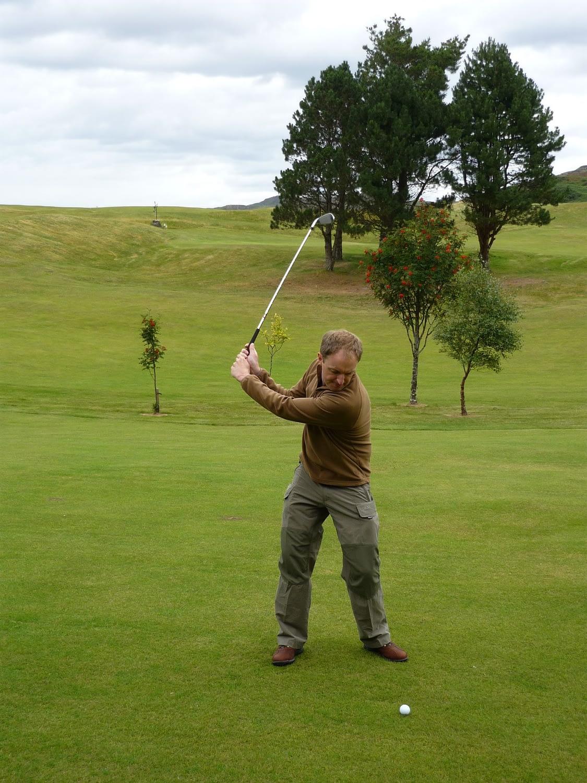Golfing on Badachro's Golf Course