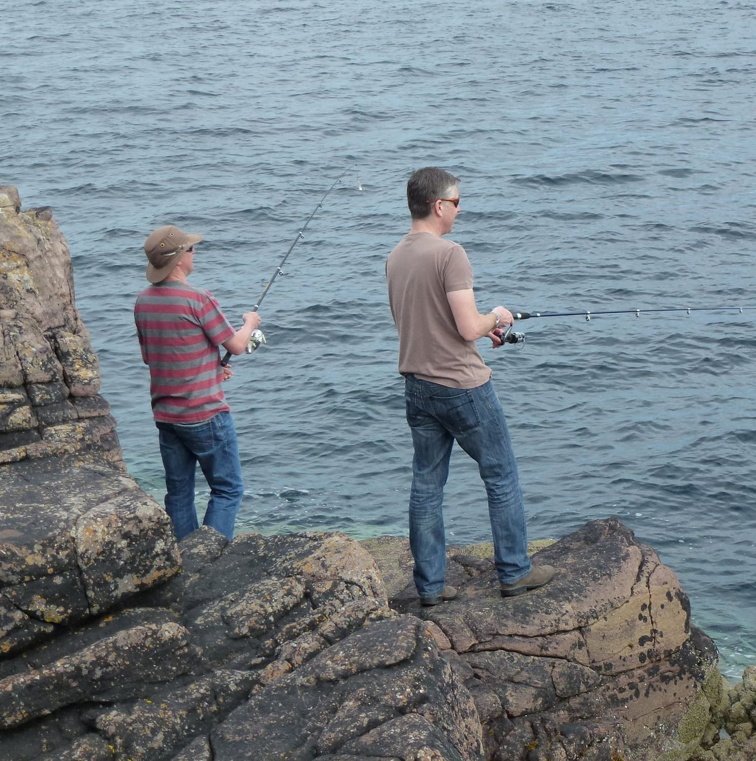 Fishing off Carr Point