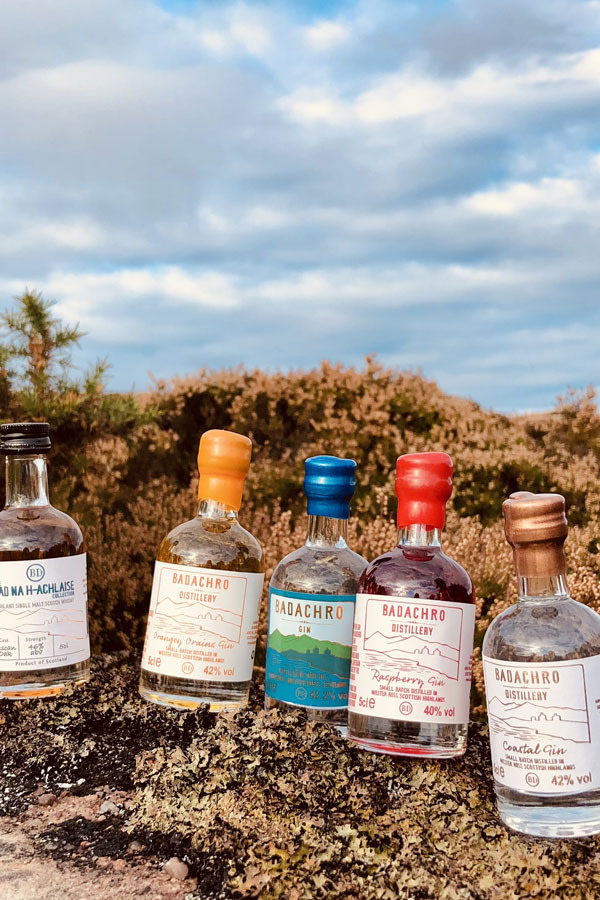 Miniatures from Badachro Distillery